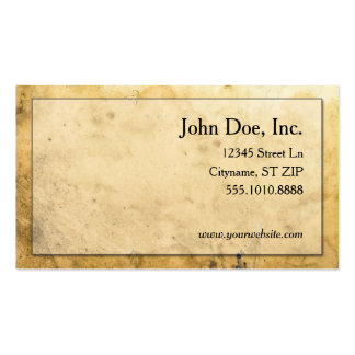 Simple Medieval parchment business cards
