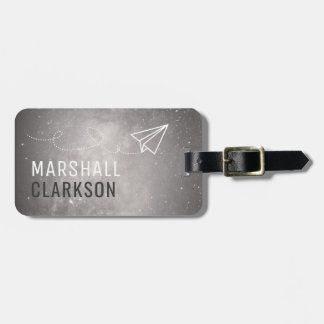 Simple Mens Dark Grey Elegant Bag Attention Luggage Tag