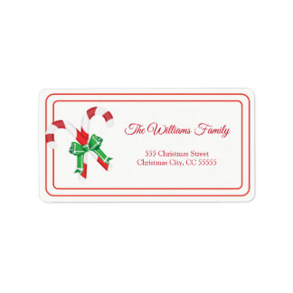 Simple Merry Christmas Candy Address Label