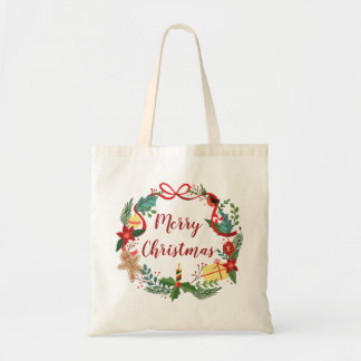 Simple Merry Christmas Wreath | Tote Bag