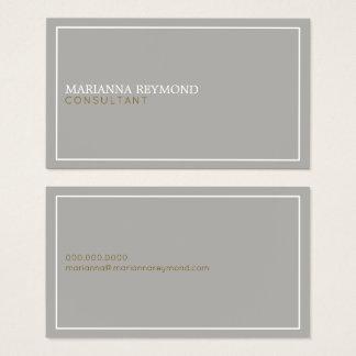 simple minimal basic gray consultant elegant business card