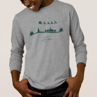 Simple Minimal Santa Claus Christmas Sleeve Shirt
