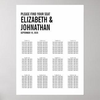 Simple & Minimal Typography Wedding Seating Chart