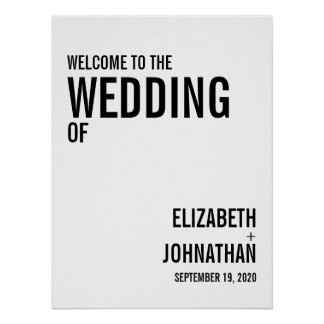 Simple & Minimal Typography Wedding Welcome Sign