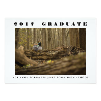 Simple Minimalist 2017 Graduate Photo Card