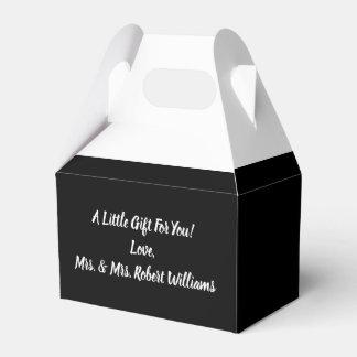 Simple Minimalist Black and White Wedding Favour Box