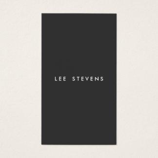 Simple Minimalist Plain Black Modern Professional Business Card