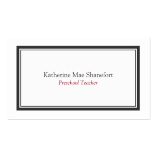 Simple Minimalist Professional Black White Border Pack Of Standard Business Cards