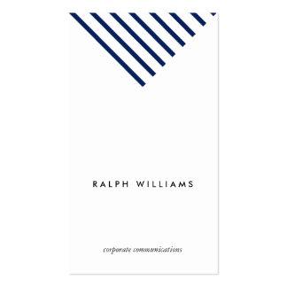 Simple Minimalist professional blue nautical lines Business Card