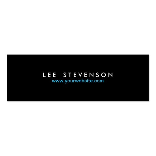 Simple Minimalistic Solid Black No. 2 Business Card Templates