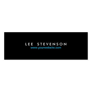 Simple Minimalistic Solid Black No. 2 Pack Of Skinny Business Cards