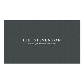 Simple Minimalistic Solid Black Professional Pack Of Standard Business Cards