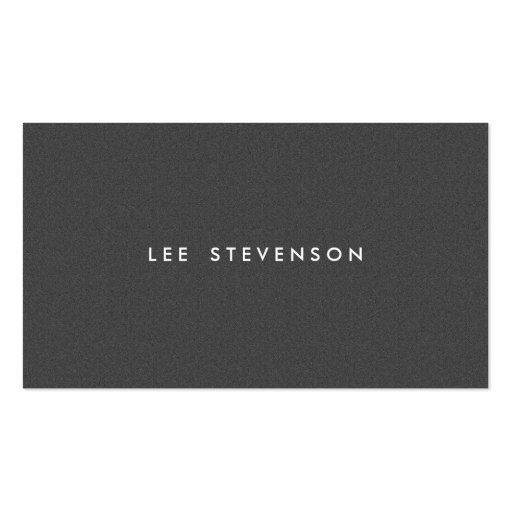 Simple Minimalistic Solid Charcoal Gray Wool Look Business Cards