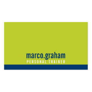 SIMPLE MODERN BAND bold masculine lime navy blue Pack Of Standard Business Cards