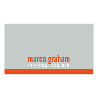 SIMPLE MODERN BAND cool bold masculine orange grey Pack Of Standard Business Cards