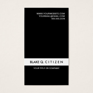 Simple Modern Black and White Business Card