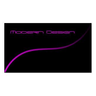 Simple Modern Black & Pink Swoosh - Business Card
