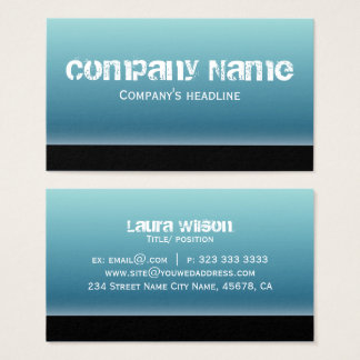 Simple Modern Blue Professional Business Card