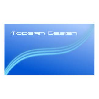 Simple Modern Blue Swoosh - Business Card