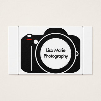 Simple Modern Camera Photography Business Card