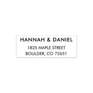 Simple Modern Chic Wedding Return Address Stamp