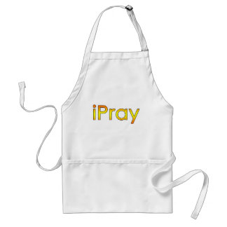 Simple, Modern, Clever iPray on Tees, Gifts Adult Apron