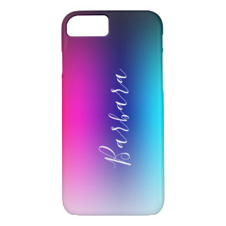 Simple Modern Color Blend Abstract Background iPhone 8/7 Case