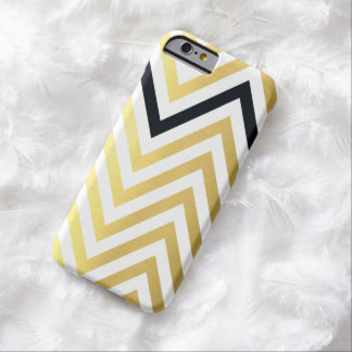 SIMPLE modern cute chevron pattern gold foil look Barely There iPhone 6 Case