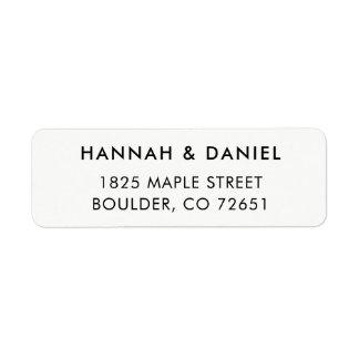 Simple Modern Elegant Return Address Label
