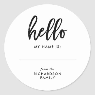 Simple Modern Family Reunion Name Tag