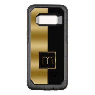 Simple Modern Gold & Black Geometric Design
