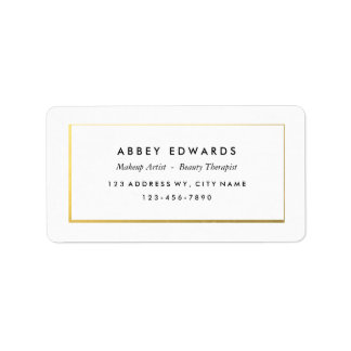 Simple Modern Gold Business Label Stickers Address Label