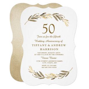 50th Anniversary Wedding Invitations Zazzle Com Au