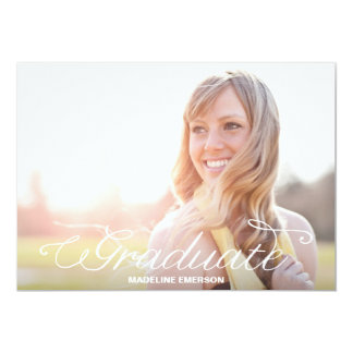 Simple Modern Graduation Overlay Personalized Invites