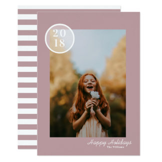 Simple & Modern Holiday Photo Card
