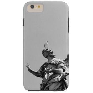 Simple, modern photo of seagull on top of statue tough iPhone 6 plus case
