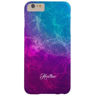 Simple Modern Purple & Blue Polygonal Background Barely There iPhone 6 Plus Case