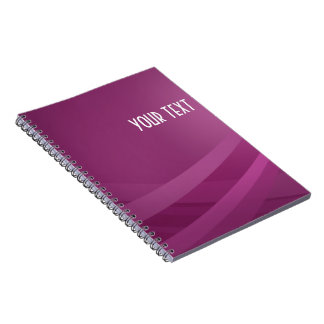 Simple Modern Purple Lilac Wave - Notebook