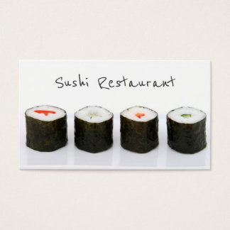 Simple Modern Sushi Business Card