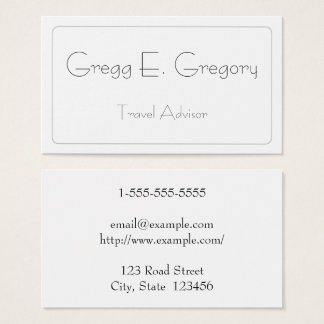 Simple & Modern Travel Advisor Business Card
