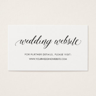 Simple Modern Typography | Wedding Website Insert