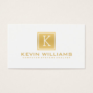 Simple Modern White & Gold Geometric Accent