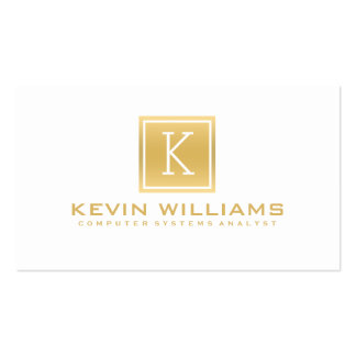 Simple Modern White & Gold Geometric Accent Pack Of Standard Business Cards