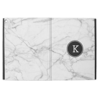 "Simple Modern White & Gray Marble Texture iPad Pro 12.9"" Case"