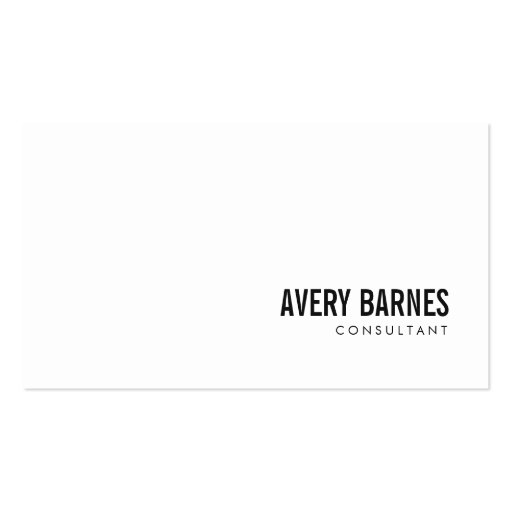 Simple Modern White Professional Business Card