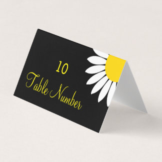 Simple Modern Yellow Floral Wedding Table Cards