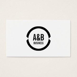 Simple Monogram Athletic Trainer Business Card