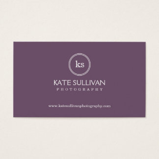 Simple Monogram Business Card