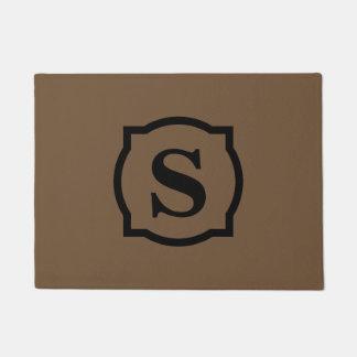 Simple Monogram Doormat