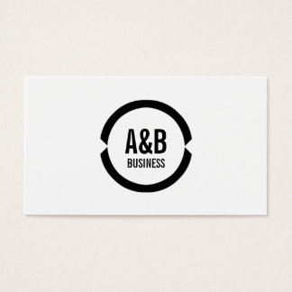 Simple Monogram System Architect Business Card